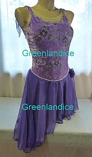 Purple Latin/Tango dress