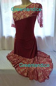 Victoria design Latin dance dress