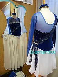 Victoria design in Royal Blue/White Back View