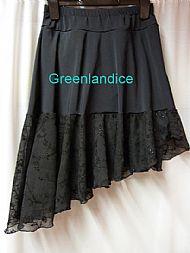 Black lace ice dance skirt