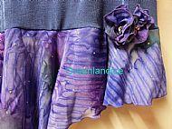 Denim Blue Flounce Skirt Close up