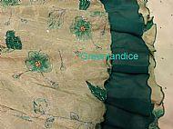 Green Flower Skirt Close