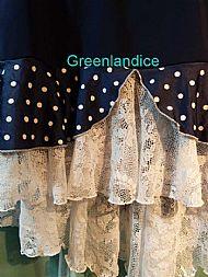 Polka Dot Ice Dance Skirt Close Up