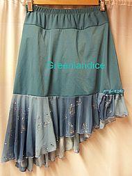Teal blue flounce skirt