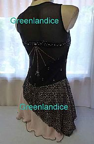 Gypsy dress in Black/Blush Back View