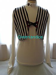 John design Black White stripe