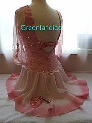 Sarah design pink lace dress Back