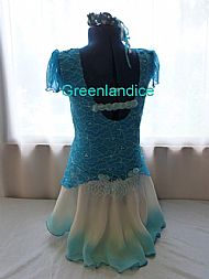 Sarah design in Turquoise Back View