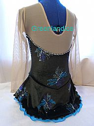 Sophie Design in Black/Turquoise Back View