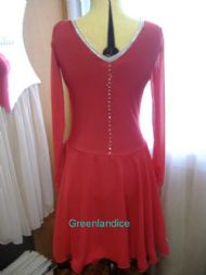 Scarlet Dance dress Back View