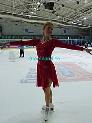 Scarlet Dance dress on ice