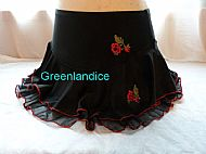 Black and Red ice skating skirt