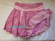 Pink Ice Skating Skirt Flat View
