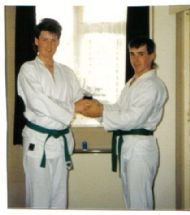 Sensei Mac with Sensei Martin. Early Years