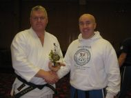 With Sensei Adrian Starr
