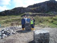2009 Kinlochbervie memorial cairn project with Highschool pupils.