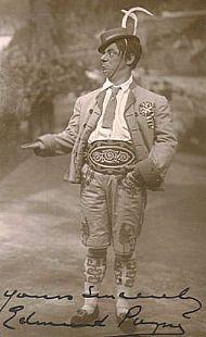 A signed postcard of Edmund Payne