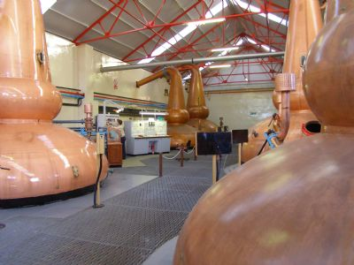 whisky stills at distillery