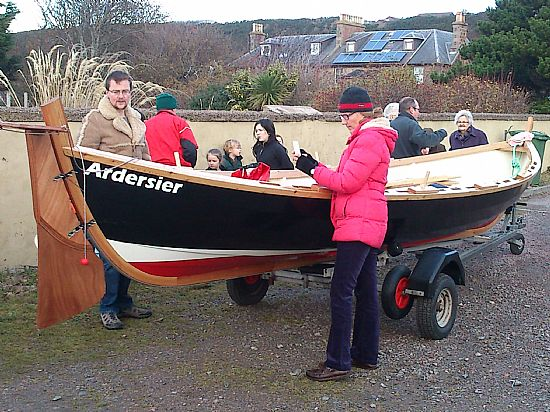 the boat that a village built on launch day