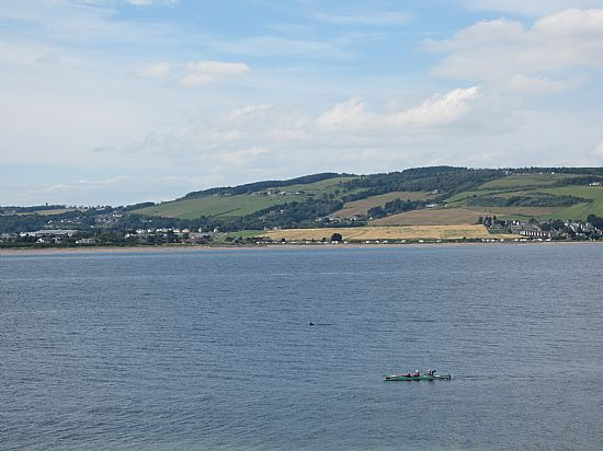 canoe and dolphin off fort george