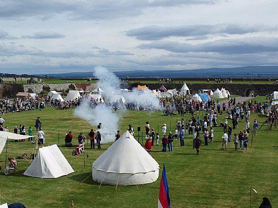 celebrating the centuries at fort george near ardersier