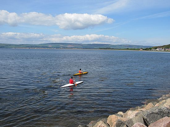 paddling off in ardersier bay heading towards fort george in the moray firth