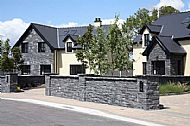 Black Sandstone Guillotined Walling stone