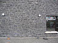 Black Limestone Random guillotined walling