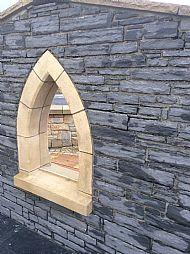 Guillotine Black Sandstone/slate walling