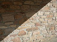 Random Pink Granite walling