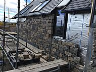 Mixed Limestone Guillotined Walling