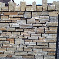 Gold quartzite Random walling