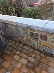 mixed granite split walling