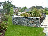Rustic slate walling