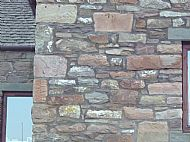 Reclaimed Guillotine Sandstone walling