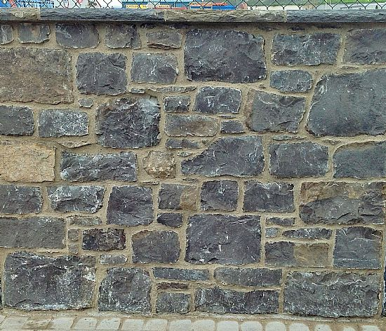 this is a panel of british limestone walling as supplied by ourselves