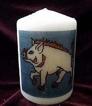 F1 WHITE BOAR CANDLE