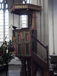 FOTHERINGHAY CHURCH PULPIT