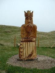 Lewis chessman - wooden sculpture