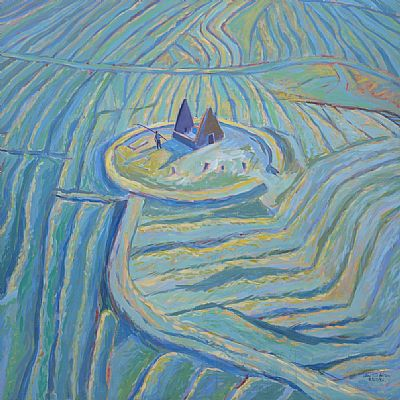painting acrylic on canvas title north rona 1992 (c)watson collection all rights reserved