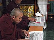 Monks in the Potalla Palace, Tibet