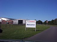 RAF Cosford Museum welcome sign