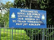 RAF Linton -on Ouse Welcome Sign