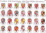 Heraldic Shields - Knights of St John of Jerusalem
