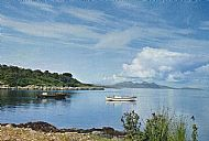 Glenuig Bay in the 1950s, with ferry