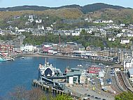Oban from the Viewpoint at Pulpit Rock