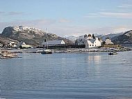 the point of rhu in the village of plockton