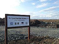 The entrance to Lochside Arena