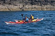 Sea-kayaking at the Point of Sleat