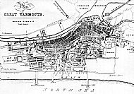 1860 map of Great Yarmouth